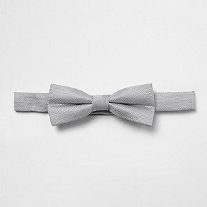Nœud papillon gris texturé pour garçon