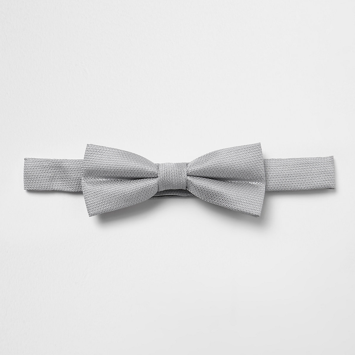 Boys grey textured bow tie