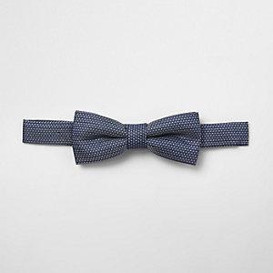 Nœud papillon en jacquard bleu pour garçon