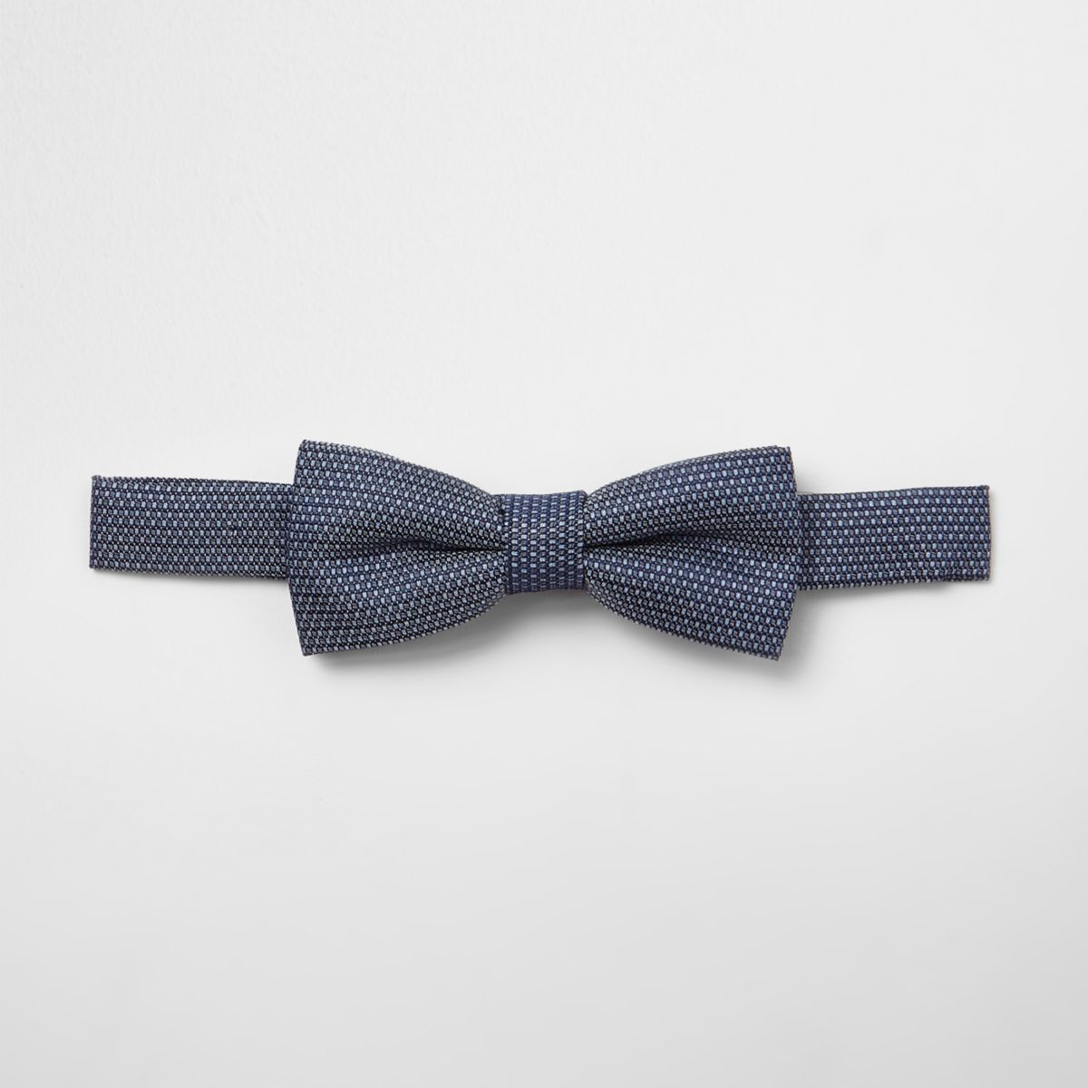 Boys blue jacquard bow tie