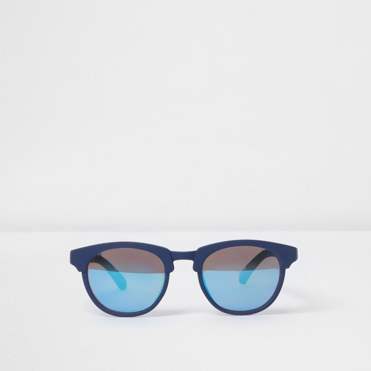 Mini boys blue rubber frames sunglasses