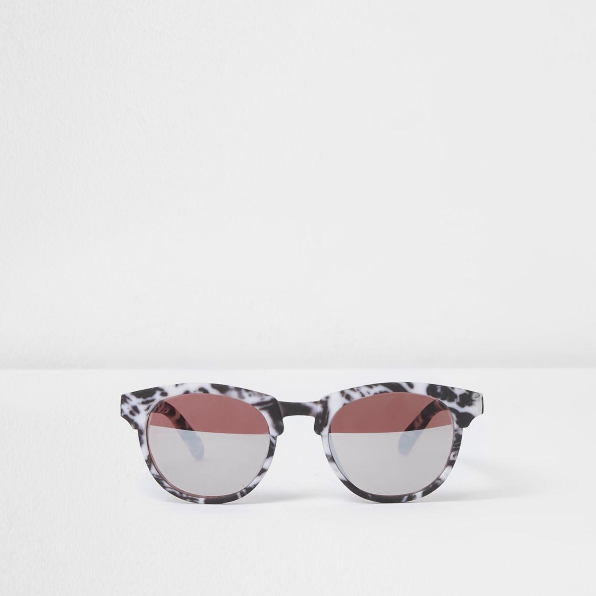 Mini kids black marble rubber sunglasses