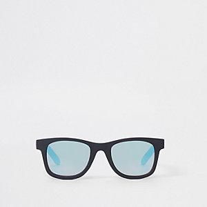 Lunettes de soleil rétro noires à verres bleus mini garçon