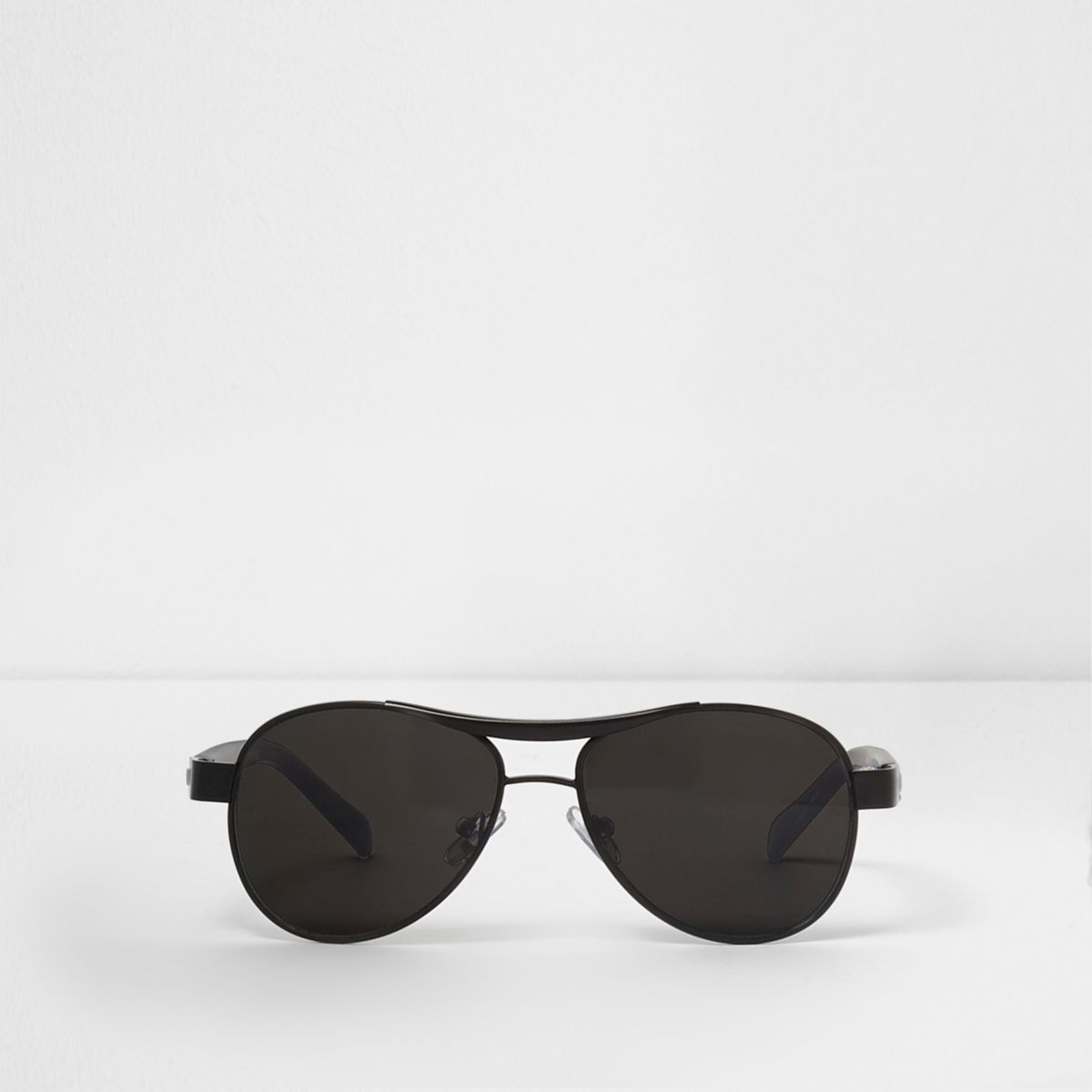 Boys black smoke lens aviator sunglasses