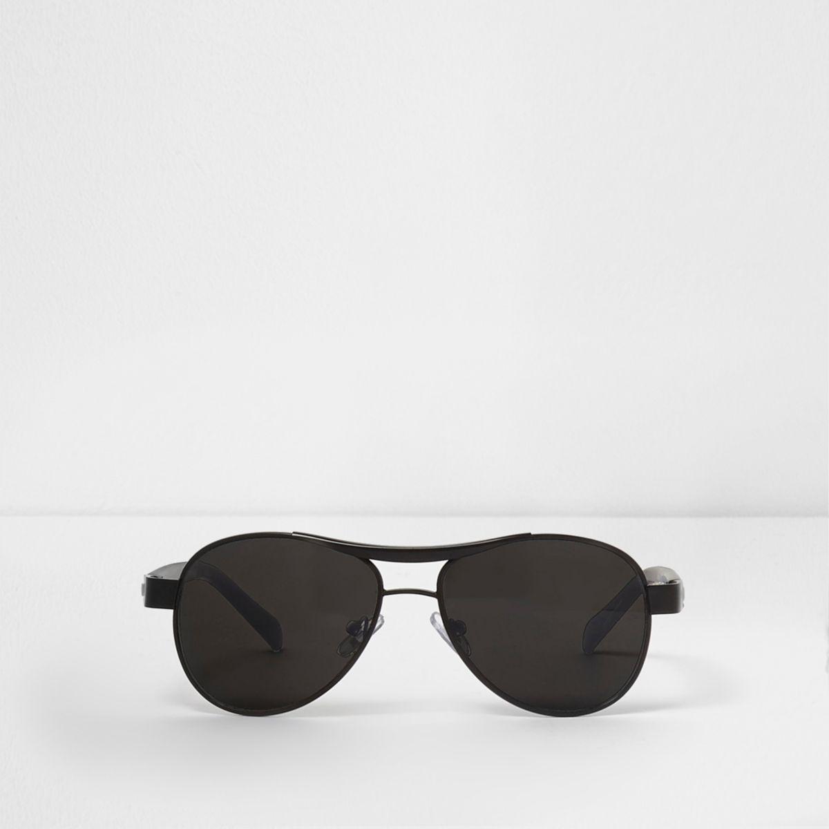 Lunettes de soleil aviateur noires à verres fumés pour garçon