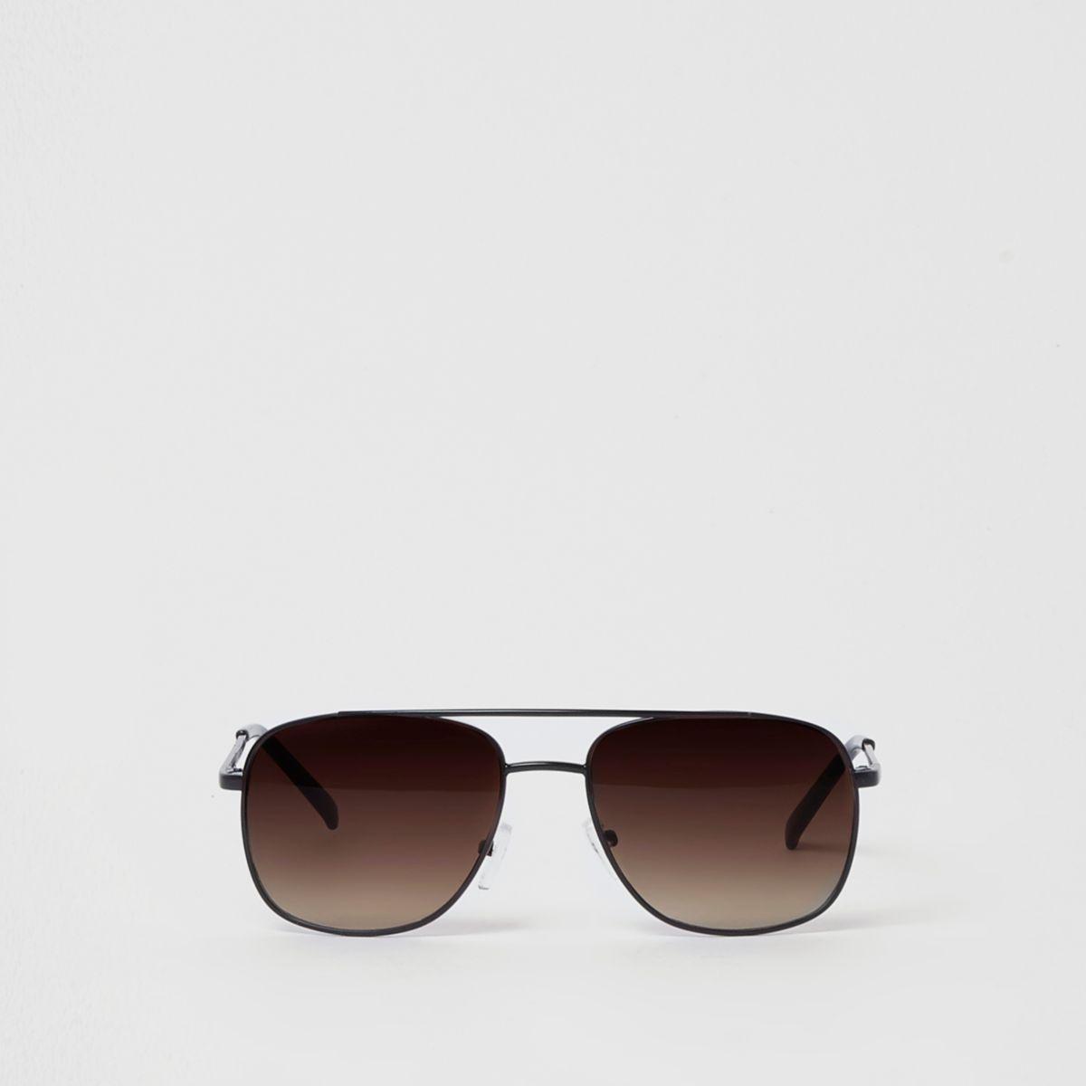 Boys black brown tinted brow bar sunglasses