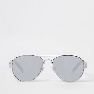 Zilverkleurige zonnebril met spiegelglazen voor jongens