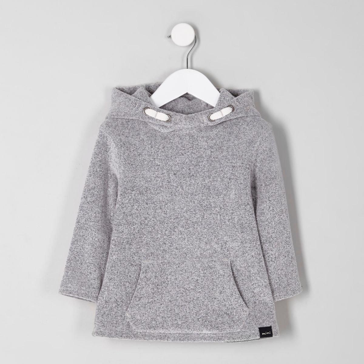 Mini boys grey soft hoodie