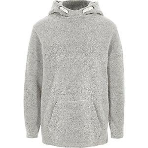Grijze zachte hoodie voor jongens