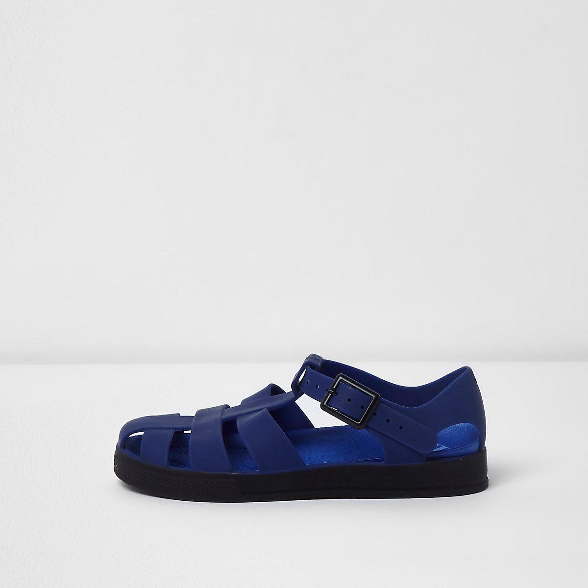 Boys navy jelly sandals