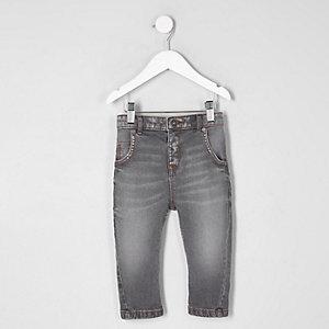 Mini - Tony - Grijze ruimvallende jeans