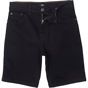 Dylan zwarte slim-fit denim short voor jongens