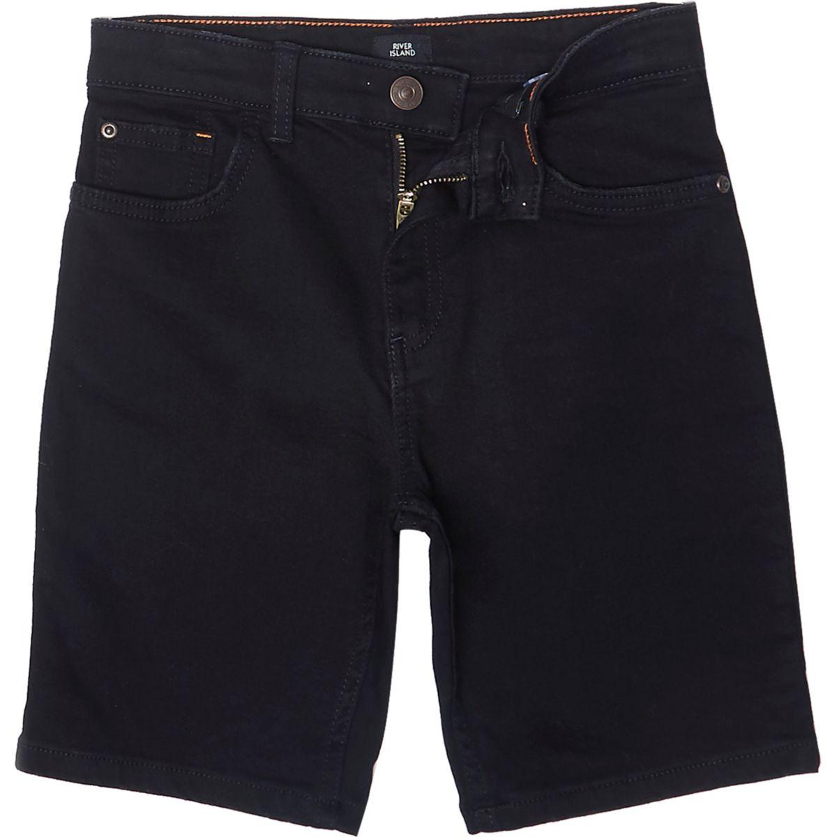 Short en jean slim Dylan noir pour garçon