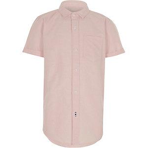 Oxford - Roze overhemd met korte mouwen voor jongens