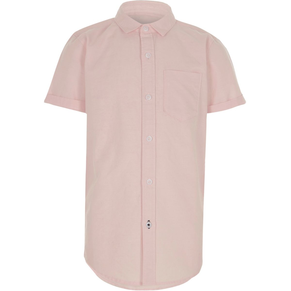 Boys pink short sleeve Oxford shirt