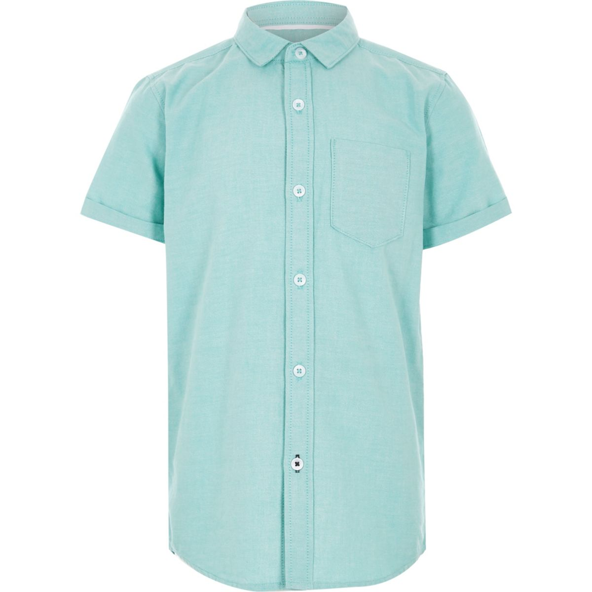 Boys mint green short sleeve Oxford shirt