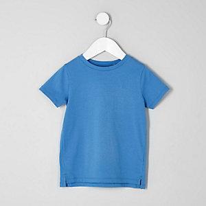 T-shirt ras-du-cou bleu pour mini garçon
