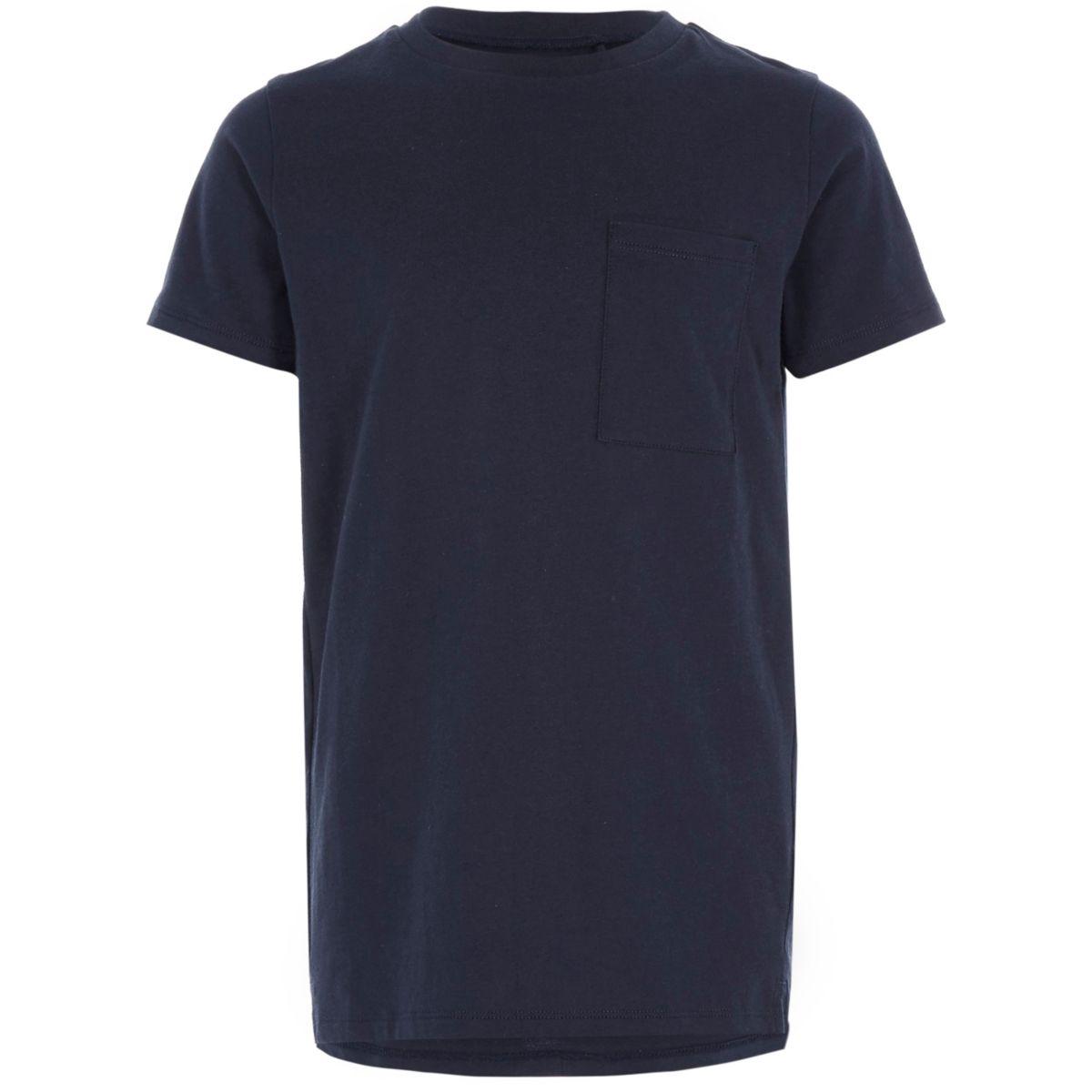 Boys navy pocket T-shirt