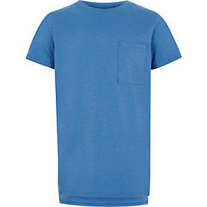 Boys blue pocket T-shirt