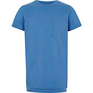 Blauw T-shirt met zakje voor jongens