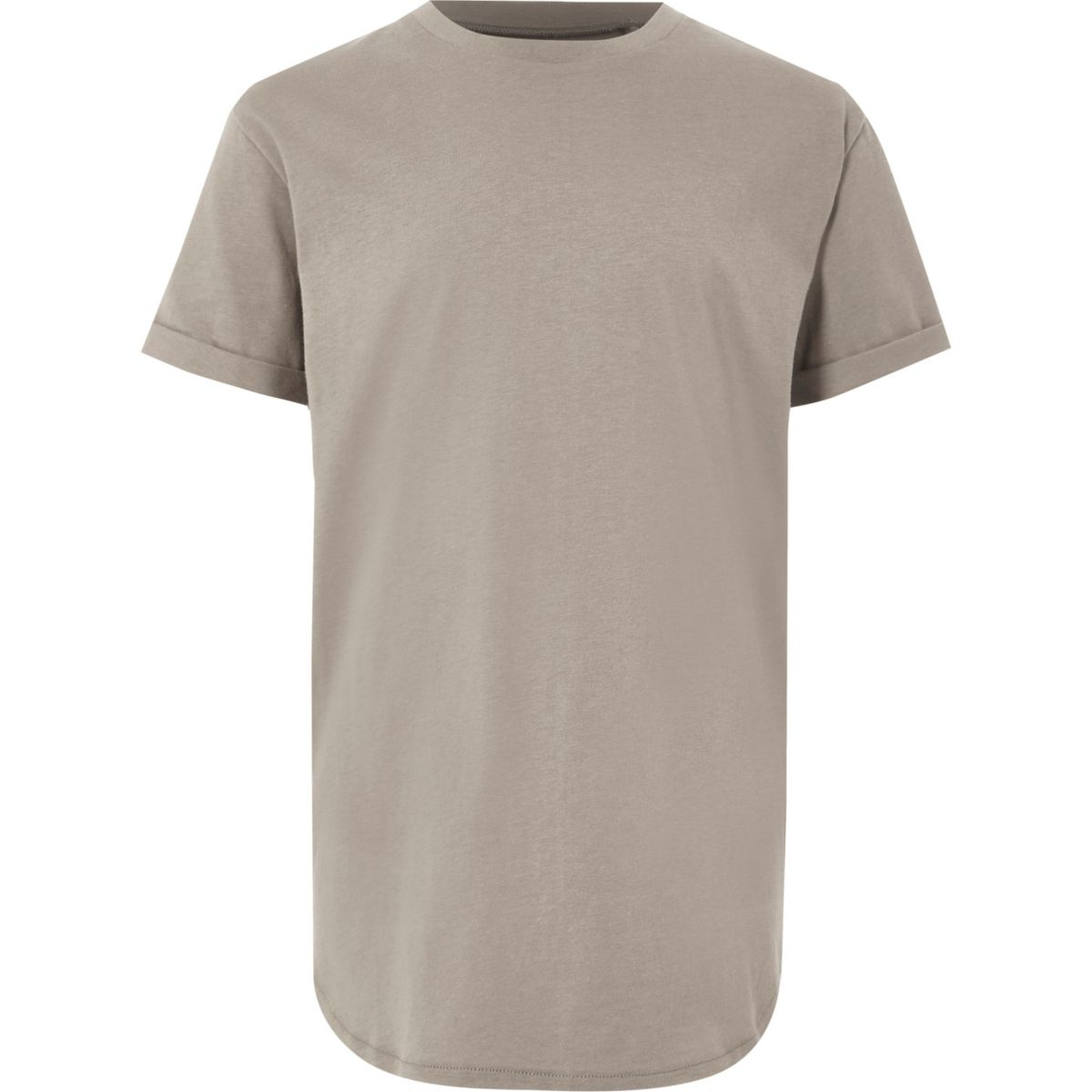 Boys stone curved hem T-shirt