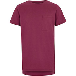 Boys berry red pocket T-shirt
