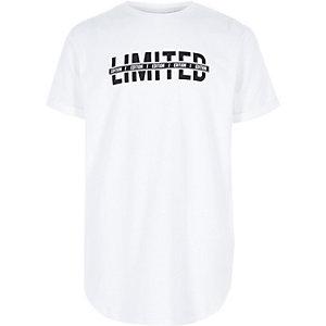 T-shirt à imprimé « limited » blanc pour garçon