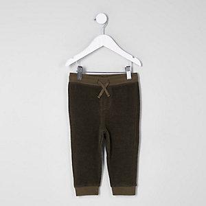 Pantalon de jogging vert kaki doux mini garçon