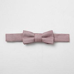 Mini – Rosa Jacquard-Fliege für Jungen