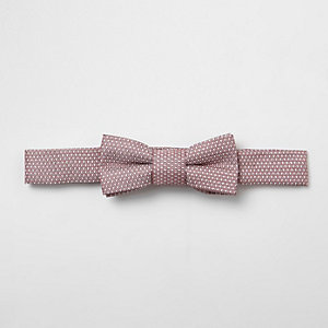 Mini boys pink jacquard bow tie
