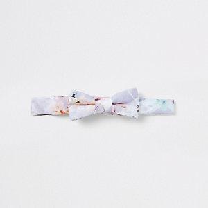 Mini - Roze vlinderdas met bloemenprint voor jongens