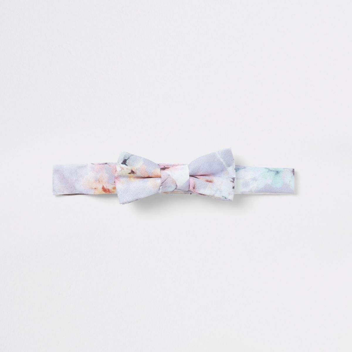 Mini boys pink floral bow tie