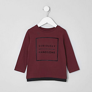 Mini boys 'handsome' long sleeve T-shirt