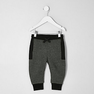 Pantalon de jogging gris colour block mini garçon