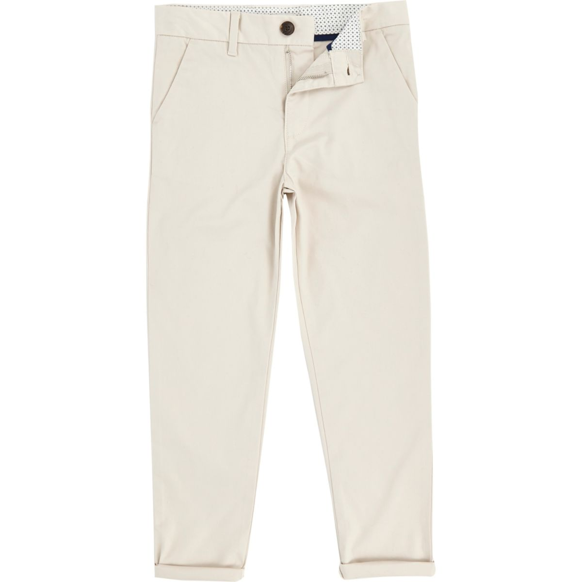 Boys stone Dylan slim fit chino pants