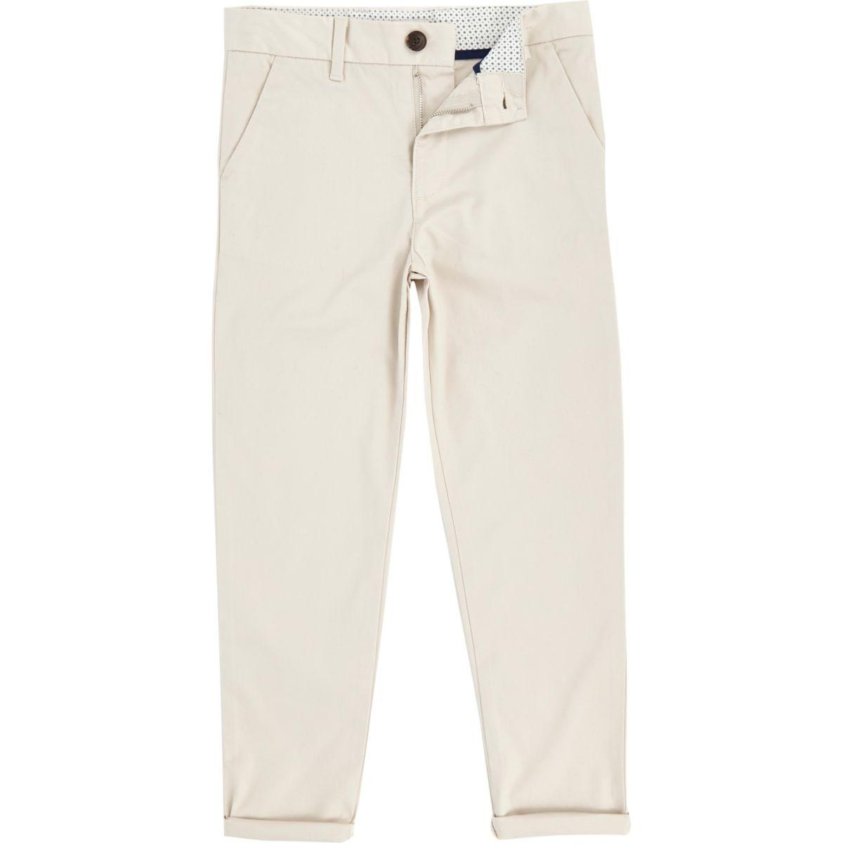 Dylan – Pantalon chino slim grège pour garçon