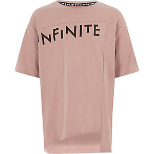 Kids pink RI Studio 'infinite' print T-shirt