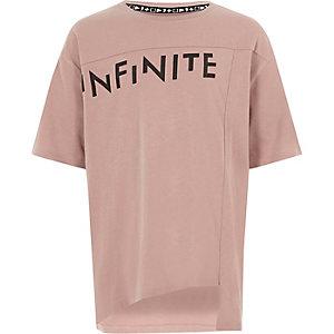 RI Studio - Roze T-shirt met 'infinite'-print voor kinderen