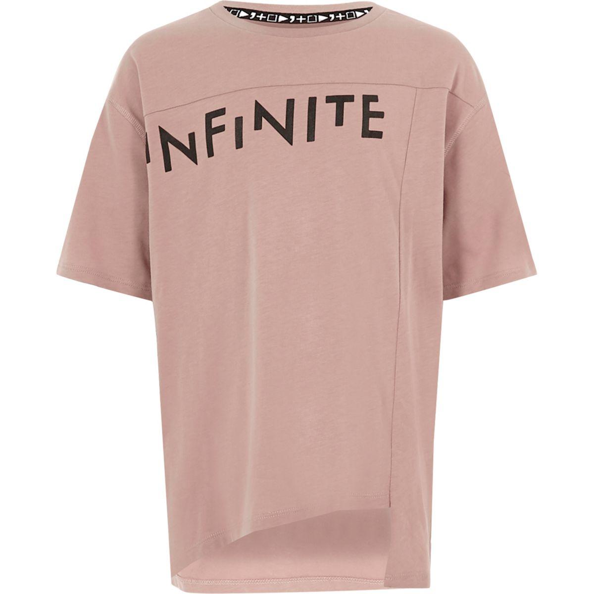 Kids pink RI Studio 'infinite' print T-shirt