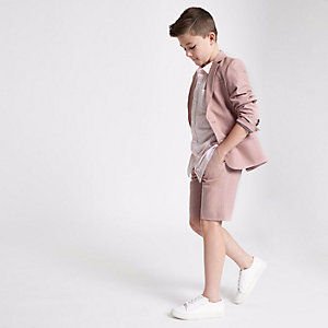 Boys pink suit shorts