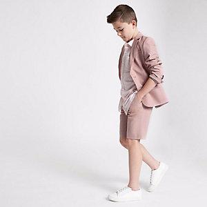 Short de costume rose pour garçon