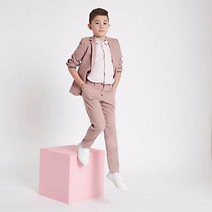 Pantalon de costume slim rose pour garçon