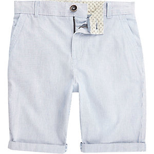 Boys blue stripe chino shorts