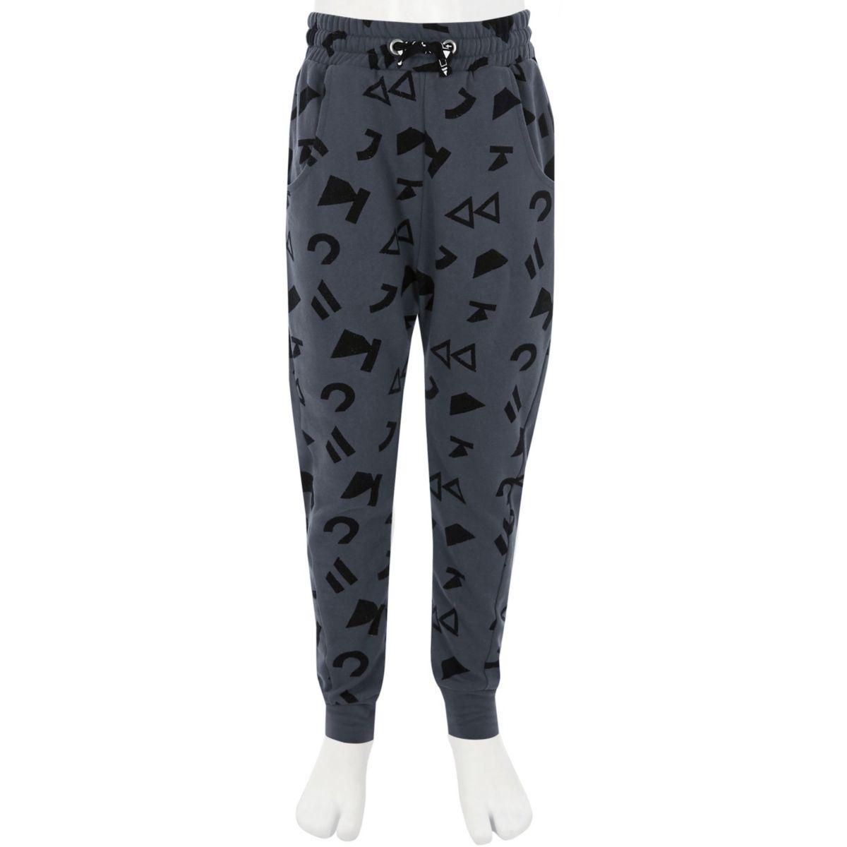 RI Studio – Pantalon de jogging imprimé symbole gris enfant