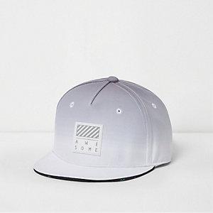 Boys grey ombre snapback cap