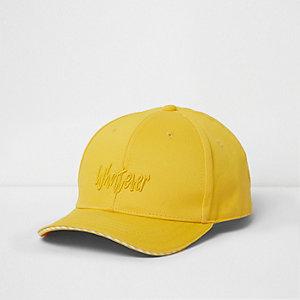 Gele baseballpet met 'Whatever'-print voor jongens