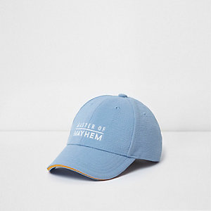 Mini boys blue 'mayhem' baseball cap
