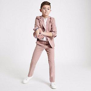 Blazer de costume rose pour garçon