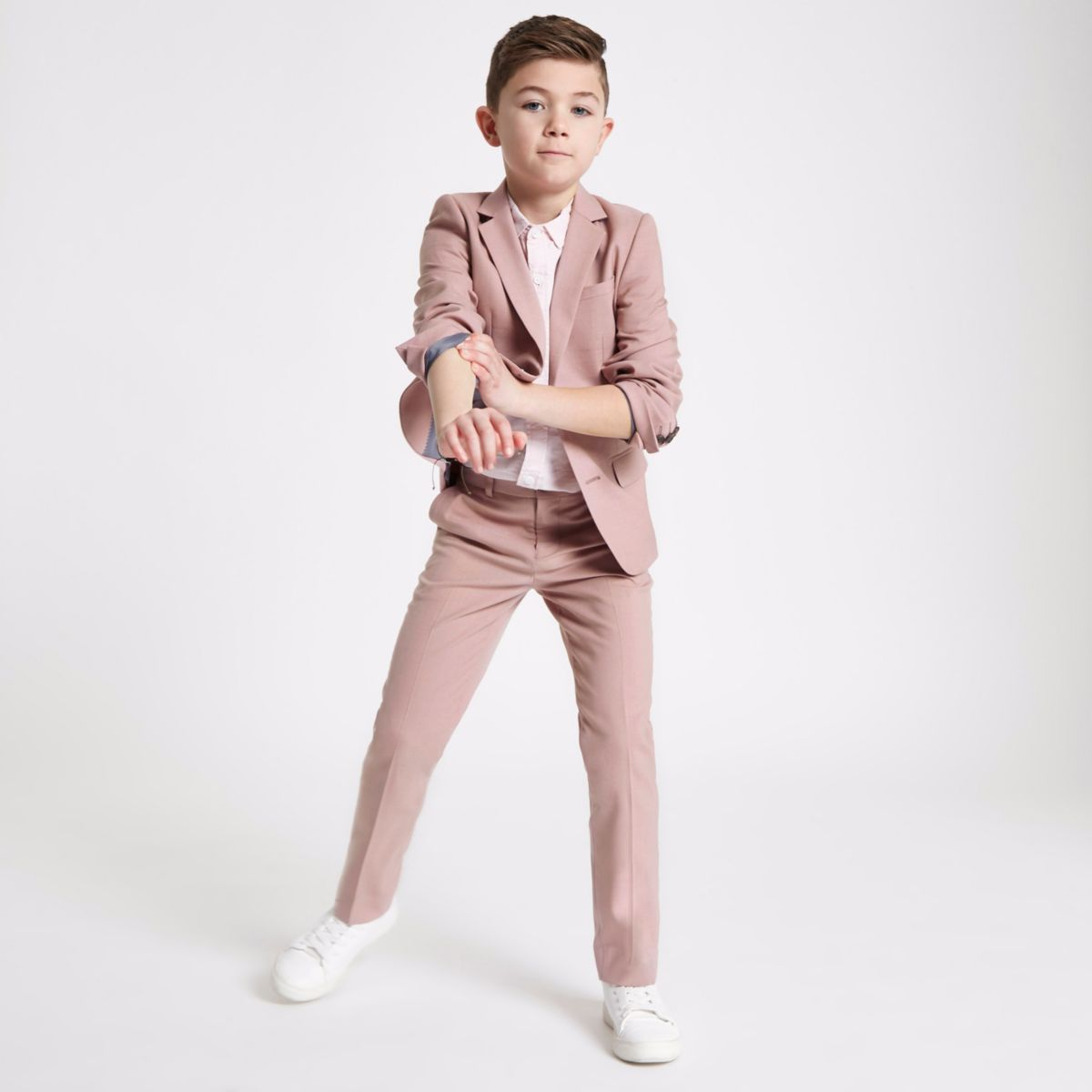 Boys pink suit blazer