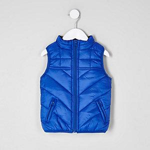 Mini - blauwe 'dude'-bodywarmer voor jongens